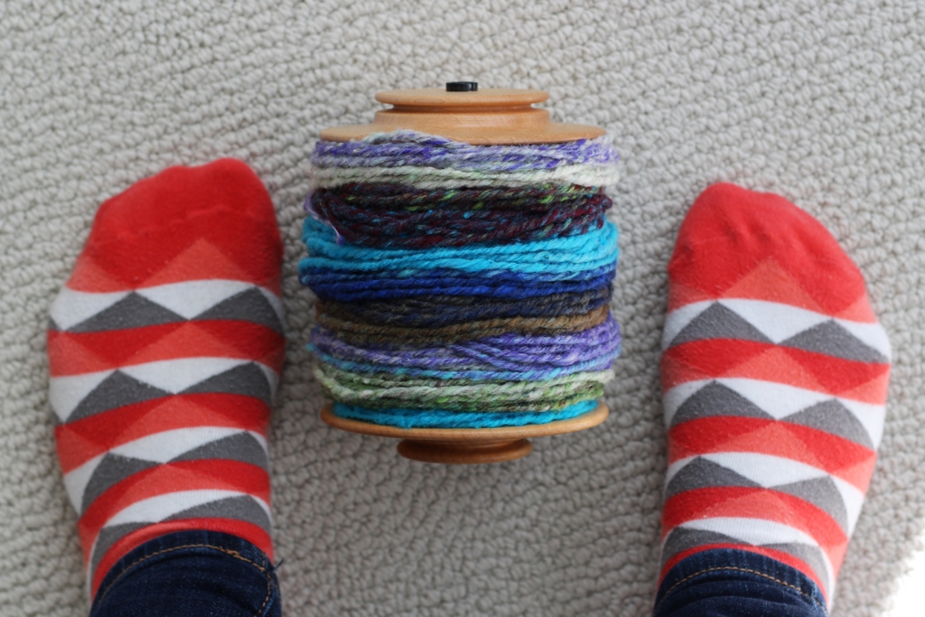 Rainbow Roll and I had a frustrating start, but we still created some beautiful handspun yarn. | Spinning Noro Rainbow Roll Part 1 - withwool.com