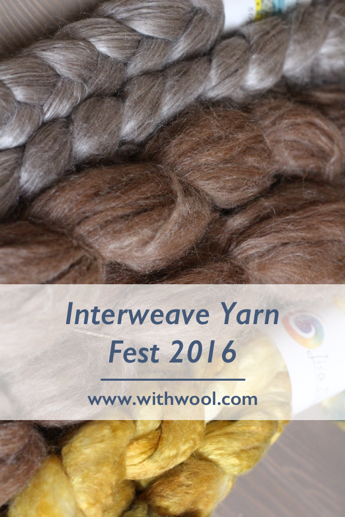 I had an great time at Interweave Yarn Fest 2016 and my stash is pretty happy too. :) - Interweave Yarn Fest | withwool.com