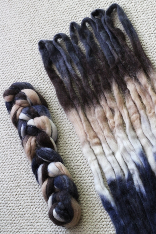 Prepping fiber to spin matching skeins of sock yarn for the Tour de Fleece 2016 challenge.   |   withwool.com