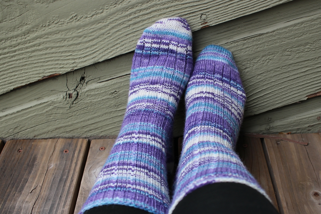 There's a new pair of socks tucked away and waiting for a snowy Winter.  New Socks For Winter | withwool.com