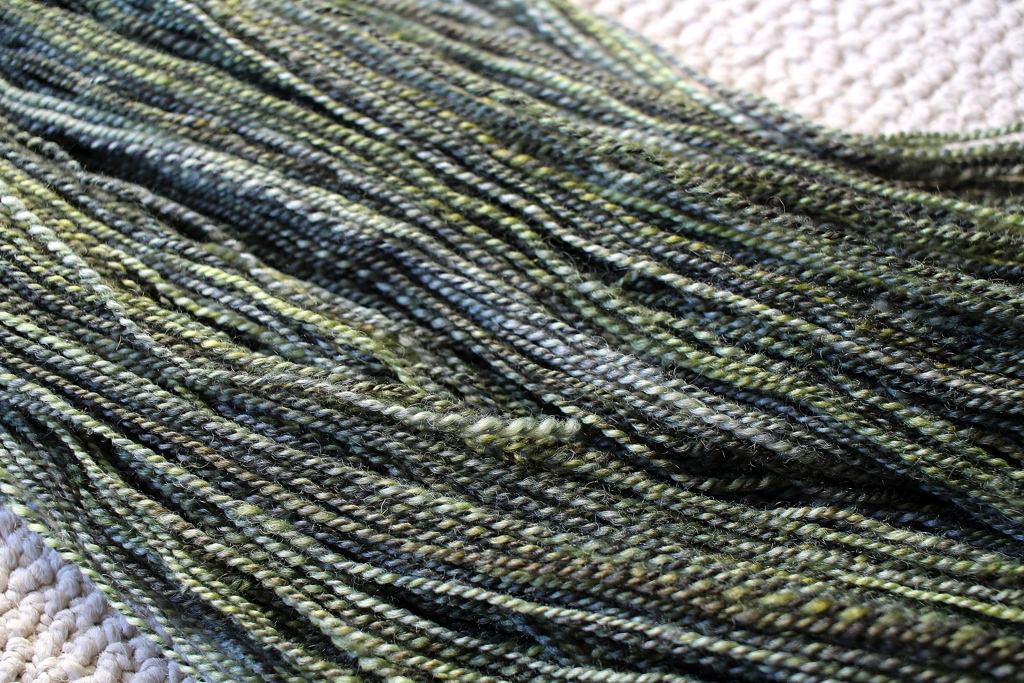 Stepped outside my comfort zone, and spun my dream yarn. Swamp Thing Plied| withwool.com