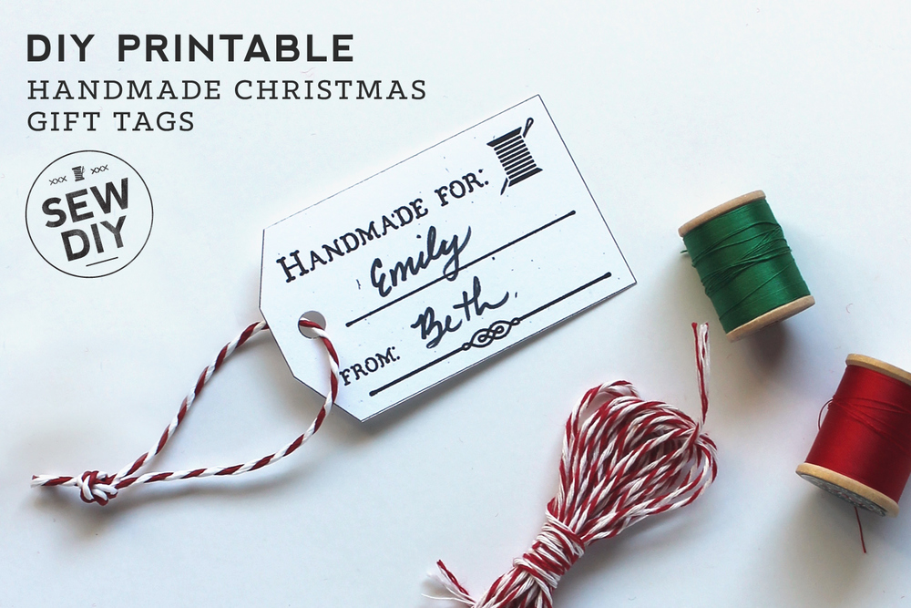 Printable gift tags with vintage flair from  Sew DIY .
