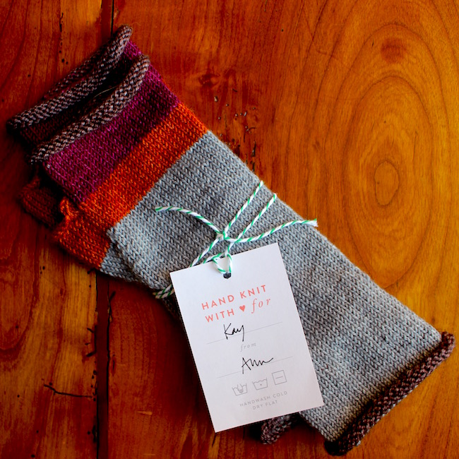 Sweet and straight to the point gift tags from  masondixonknitting.com