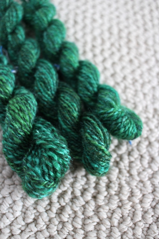 Working small and fast will tell you a lot about how to spin a specific yarn or for a big project. Like how to handle color, spin consistently, what to measure, and what not to do. | withwool.com