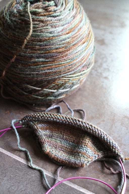 I can't settle on a stitch pattern for this sock. Cables? Texture? Ribbing?