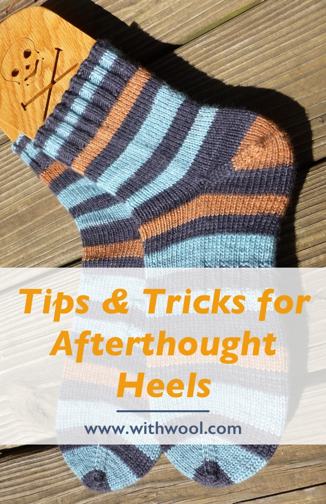 Happy #Socktober! Check out this tips and tricks to figure out where to start an afterthought heel on your next pair of hand knit socks. | withwool.com