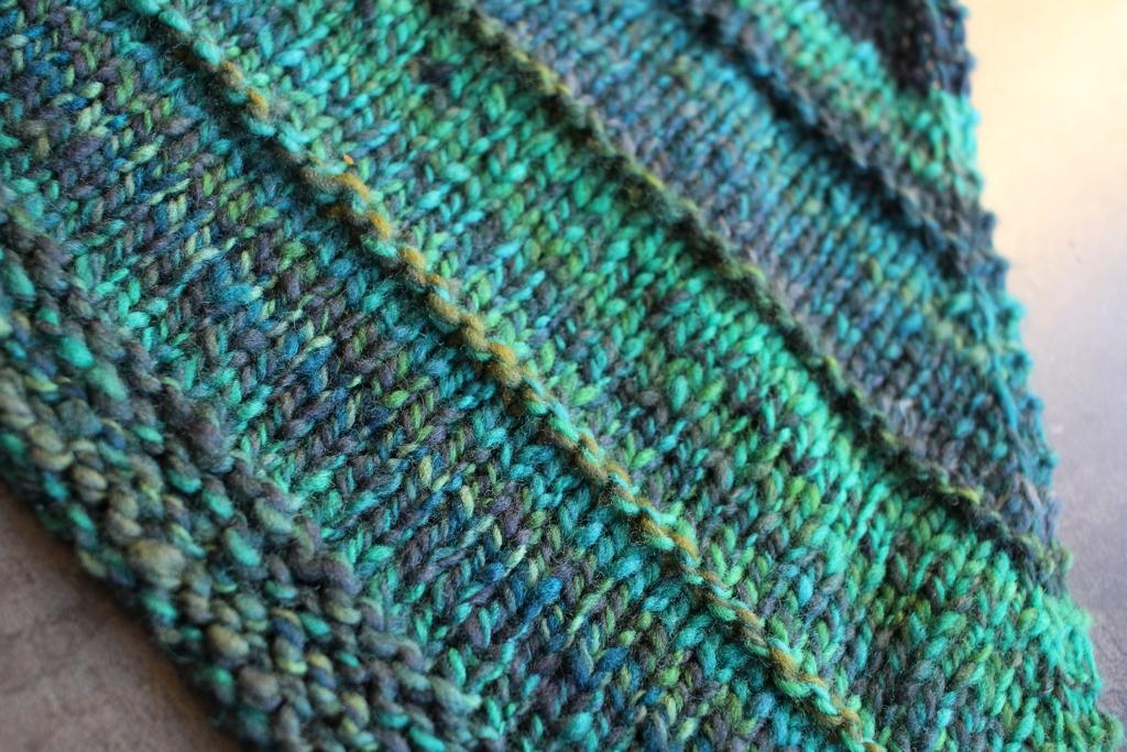Handspun yarn + Procrastination = The Perfect Shawl #knitting | withwool.com