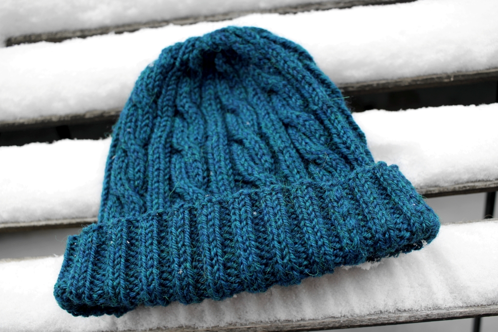 The Windbreaker hat knitting pattern by April Klich