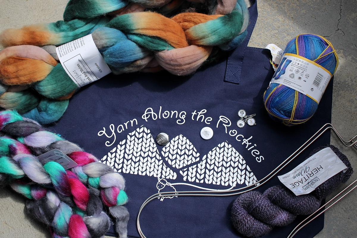 I had a fun time visiting yarn shops during Yarn Along The Rockies! Went to three shops and added sock yarn, spinning fiber to the stash.  Yarn Along The Rockies 2019 || withwool.com