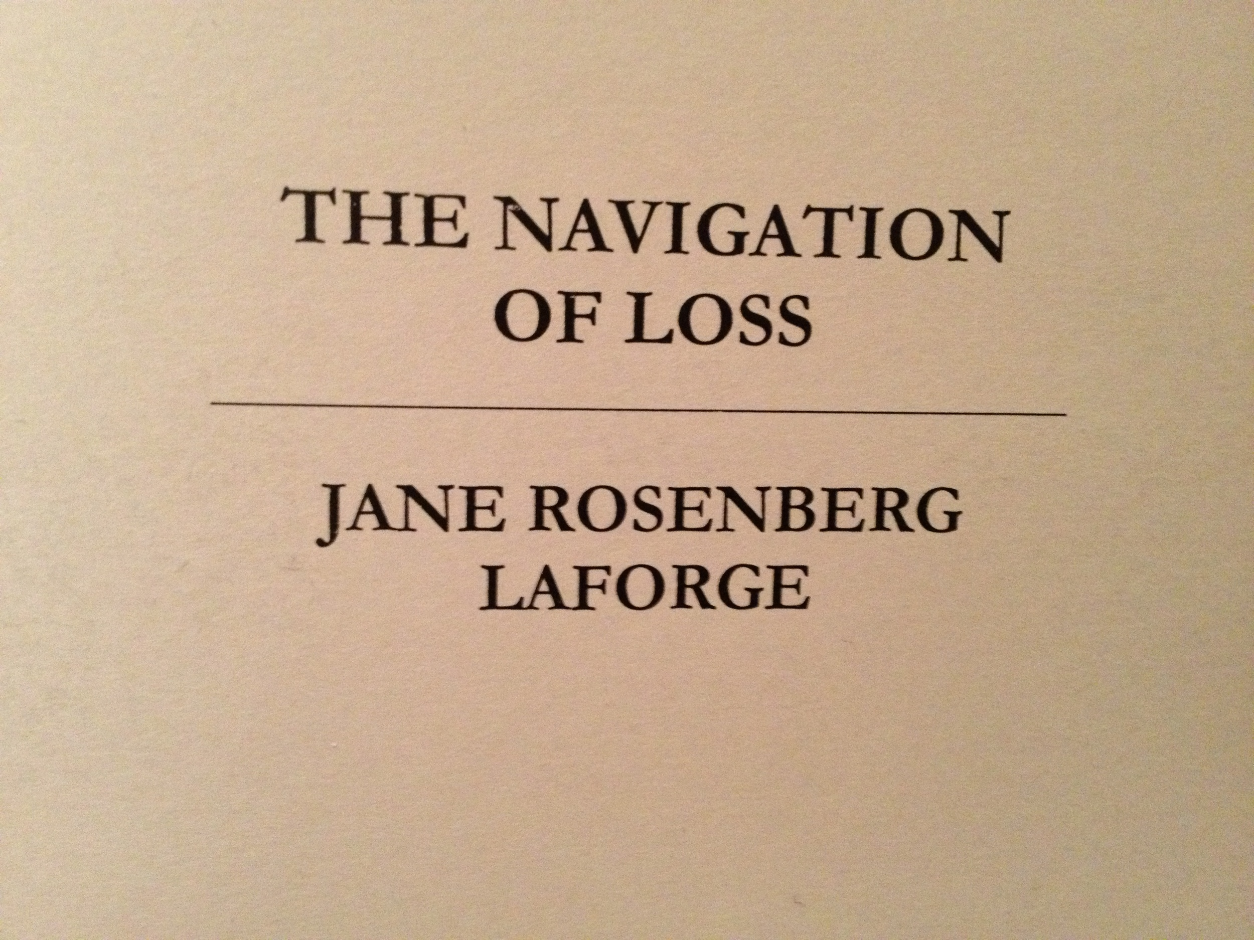 """""""The Navigation of Loss""""  poetry collection, published in 2012, is available for $11 through PayPal from Red Ochre Press."""