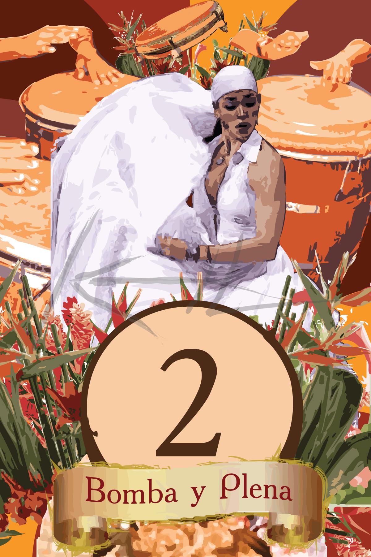 Wedding Table Cards: Bomba y Plena