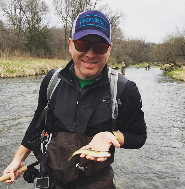 Absolutely slaying it today on the Kinni! #weliveoutdoors #flyfishing
