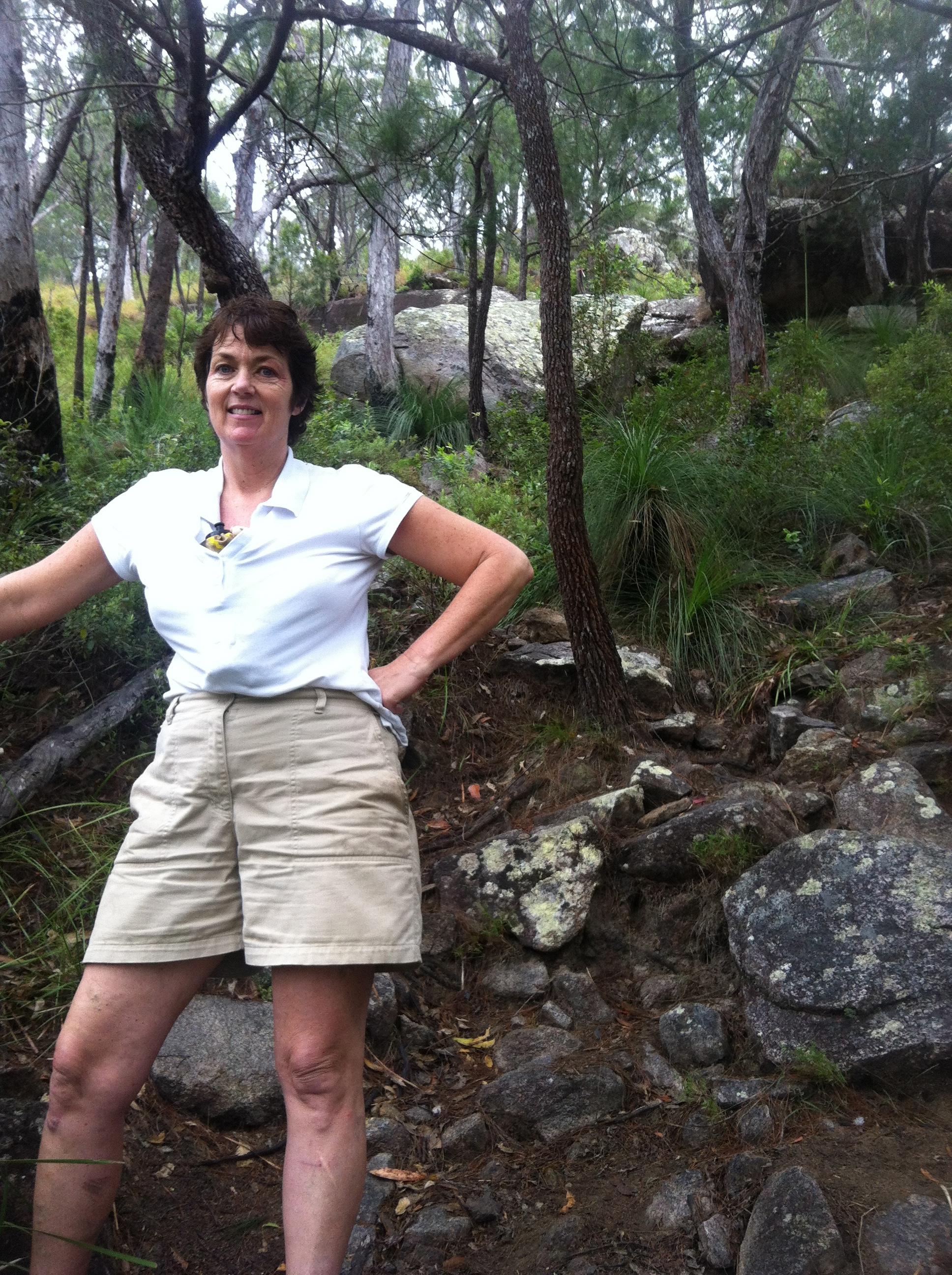 Eileen on Pyramid Mountain.
