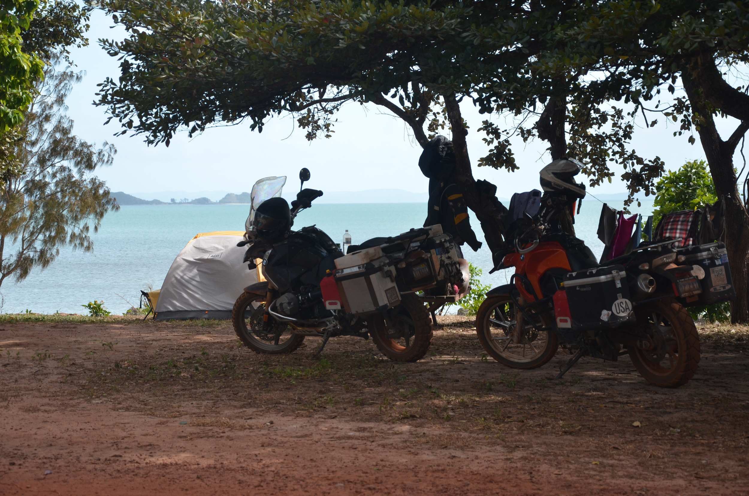 Our campsite at Alau Beach.