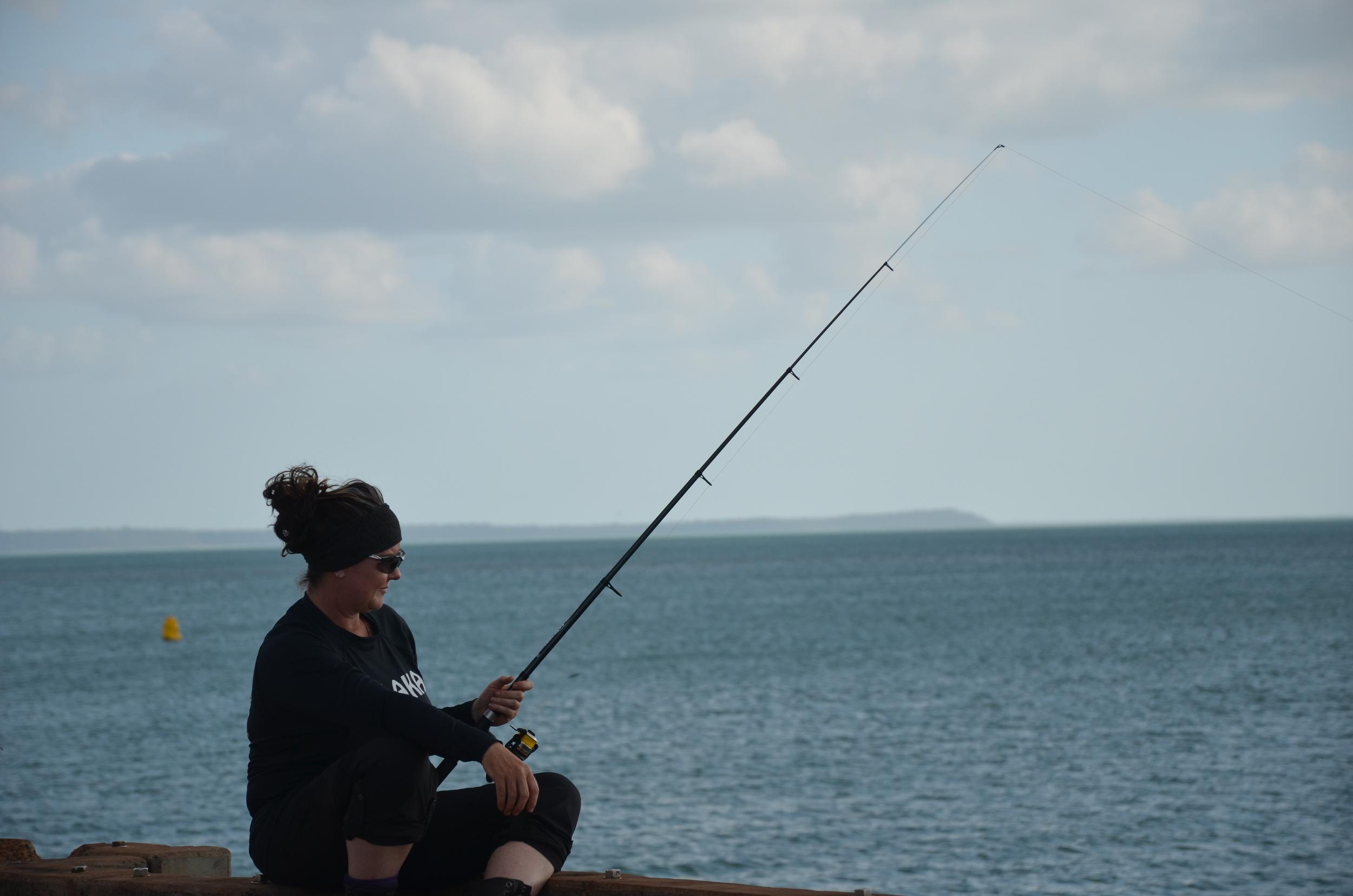 Fishing on the Seisia pier.