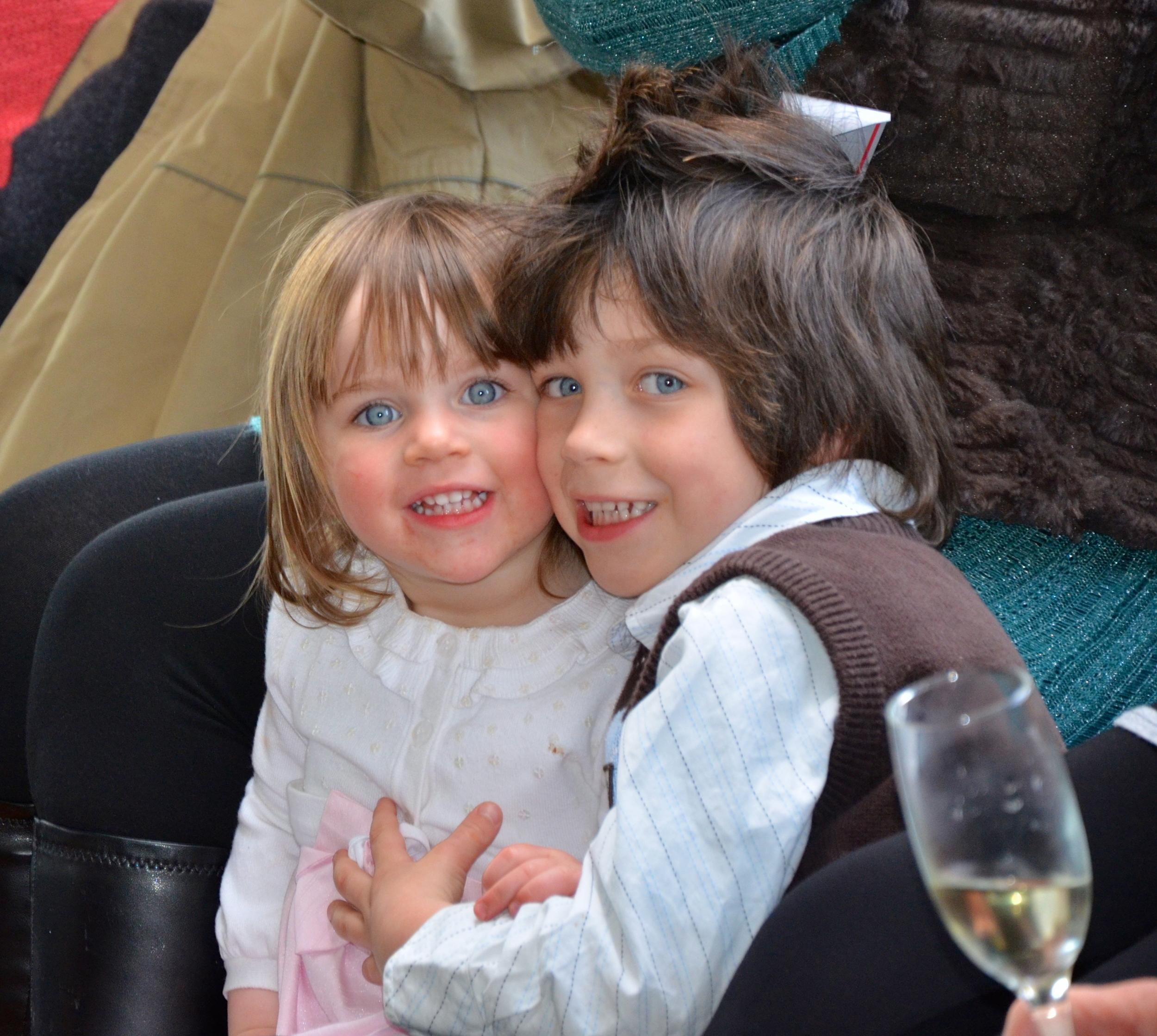 Looks like mischief!!!..Mackenzie & Jerimiah, Cat's youngest niece and nephew ;)
