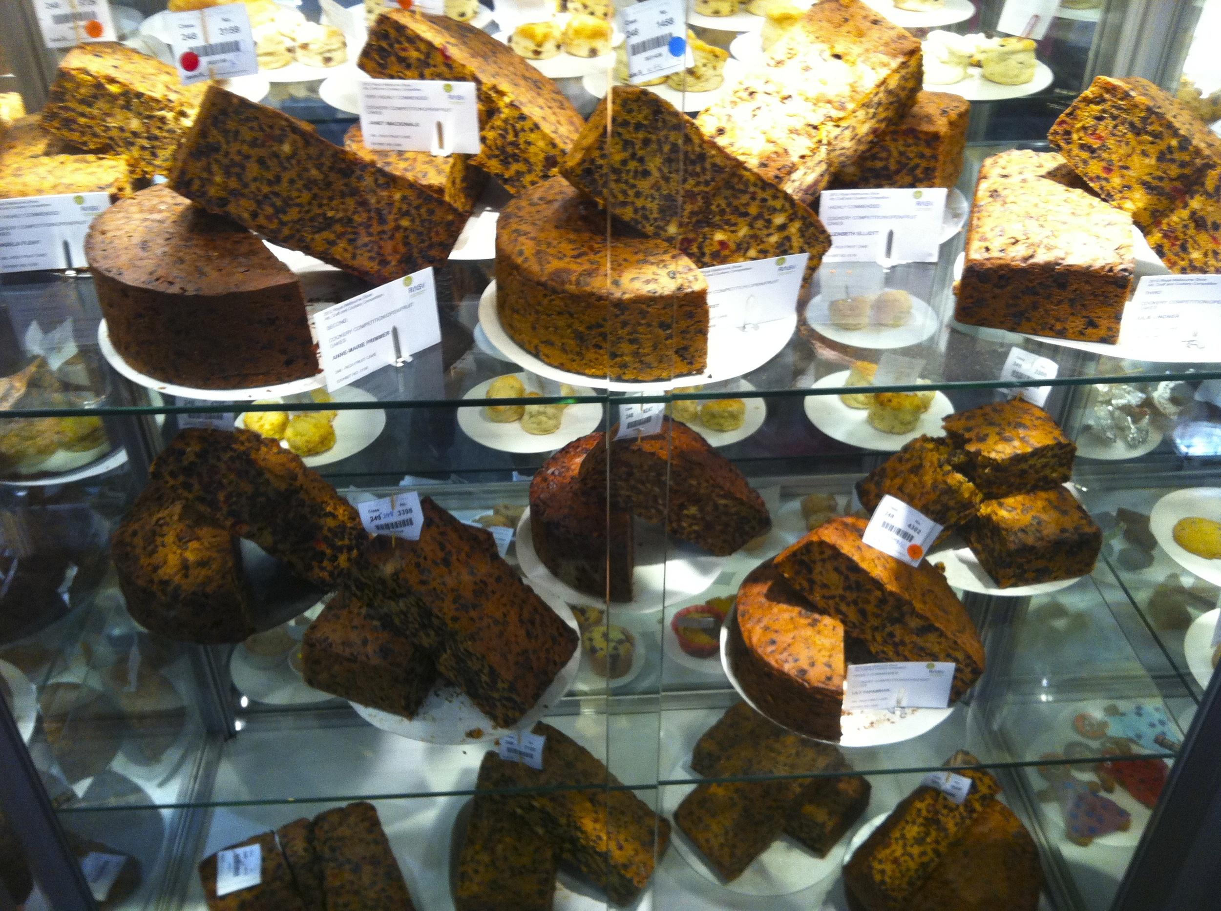 Royal Melbourne Show Fruit Cake Exhibit!