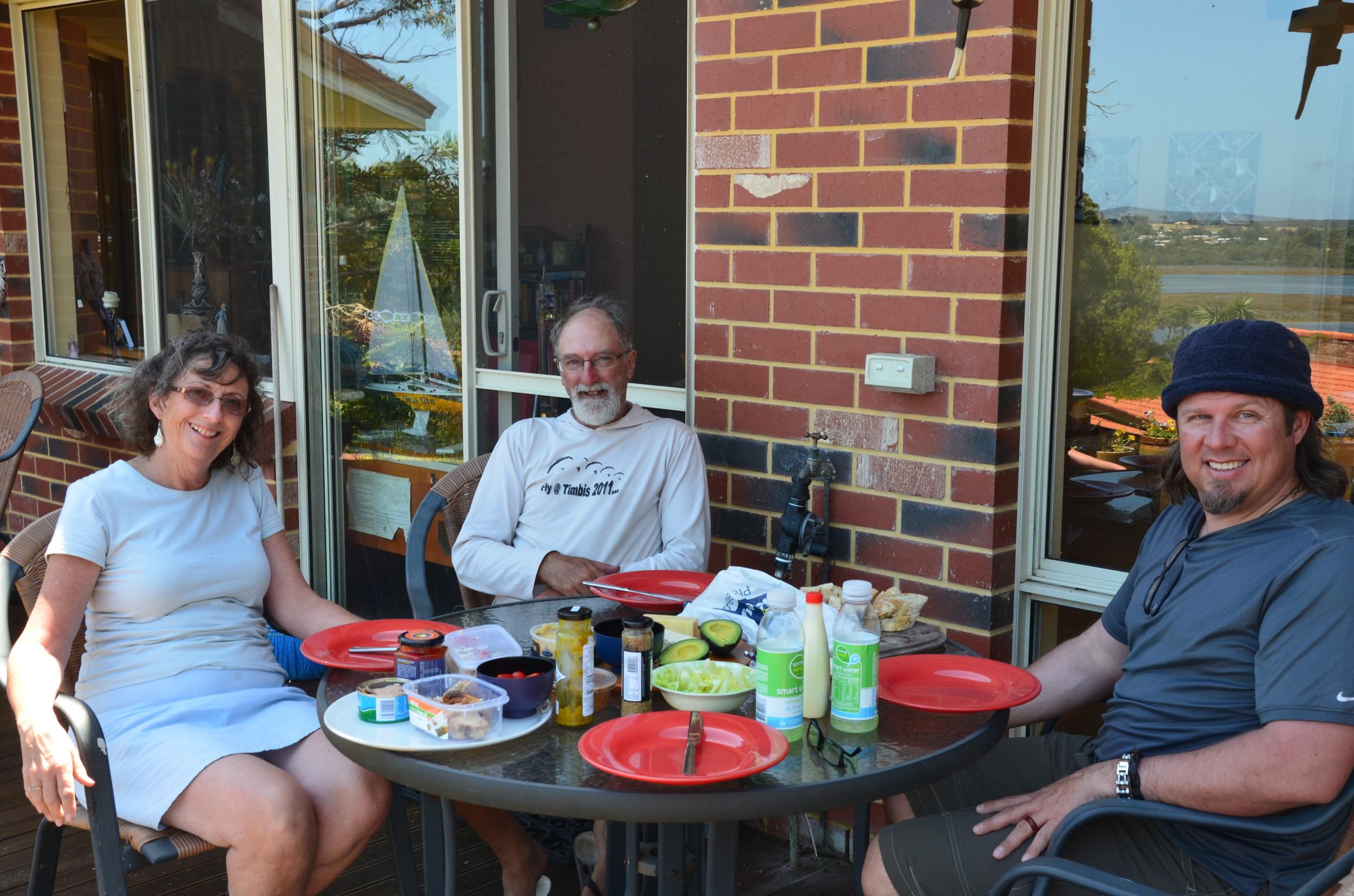 Lunch on the deck with Debbie and Rob
