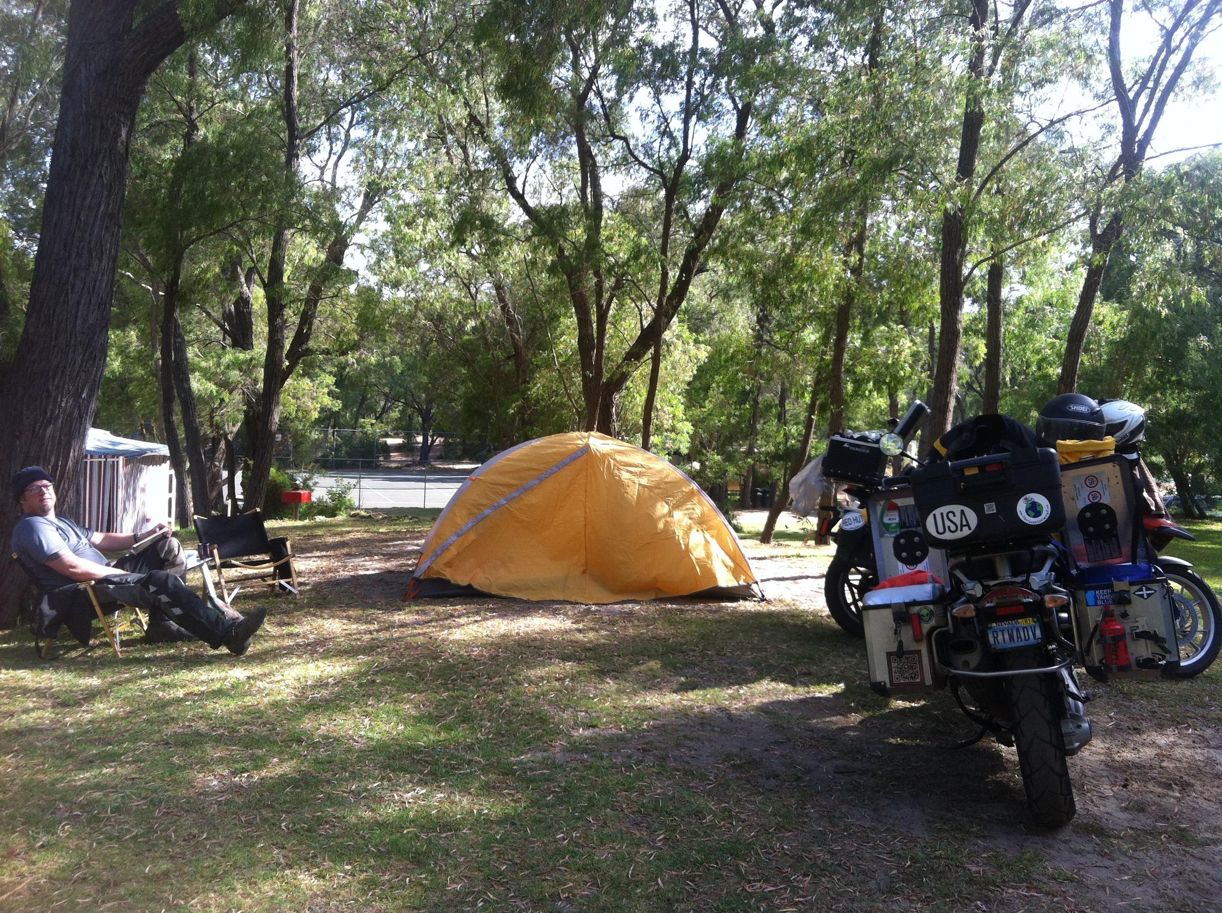 1st night camp @ Bremer Ba, WA