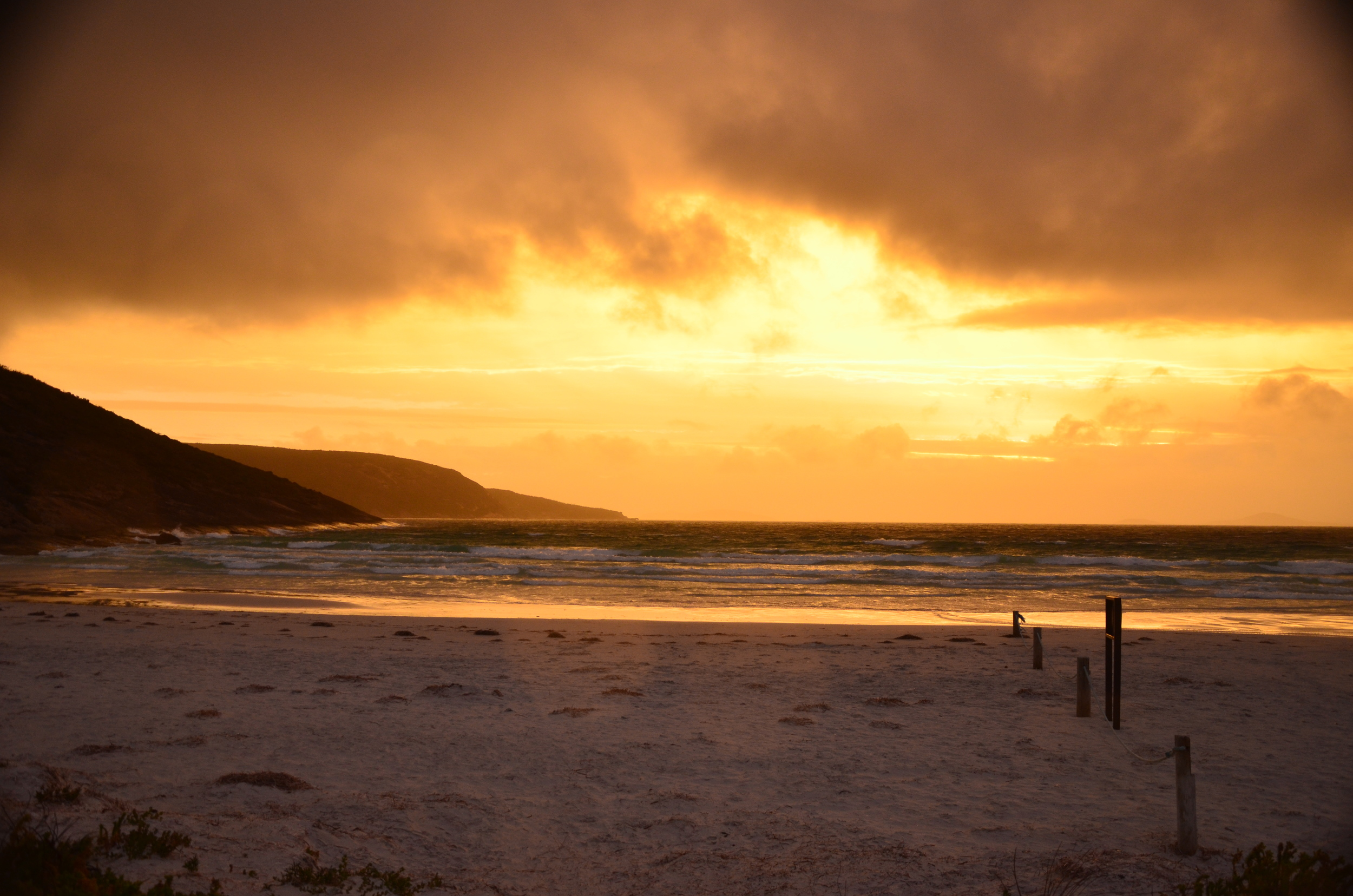 Amazing stormy sunset sky last night at Cape Le Grand