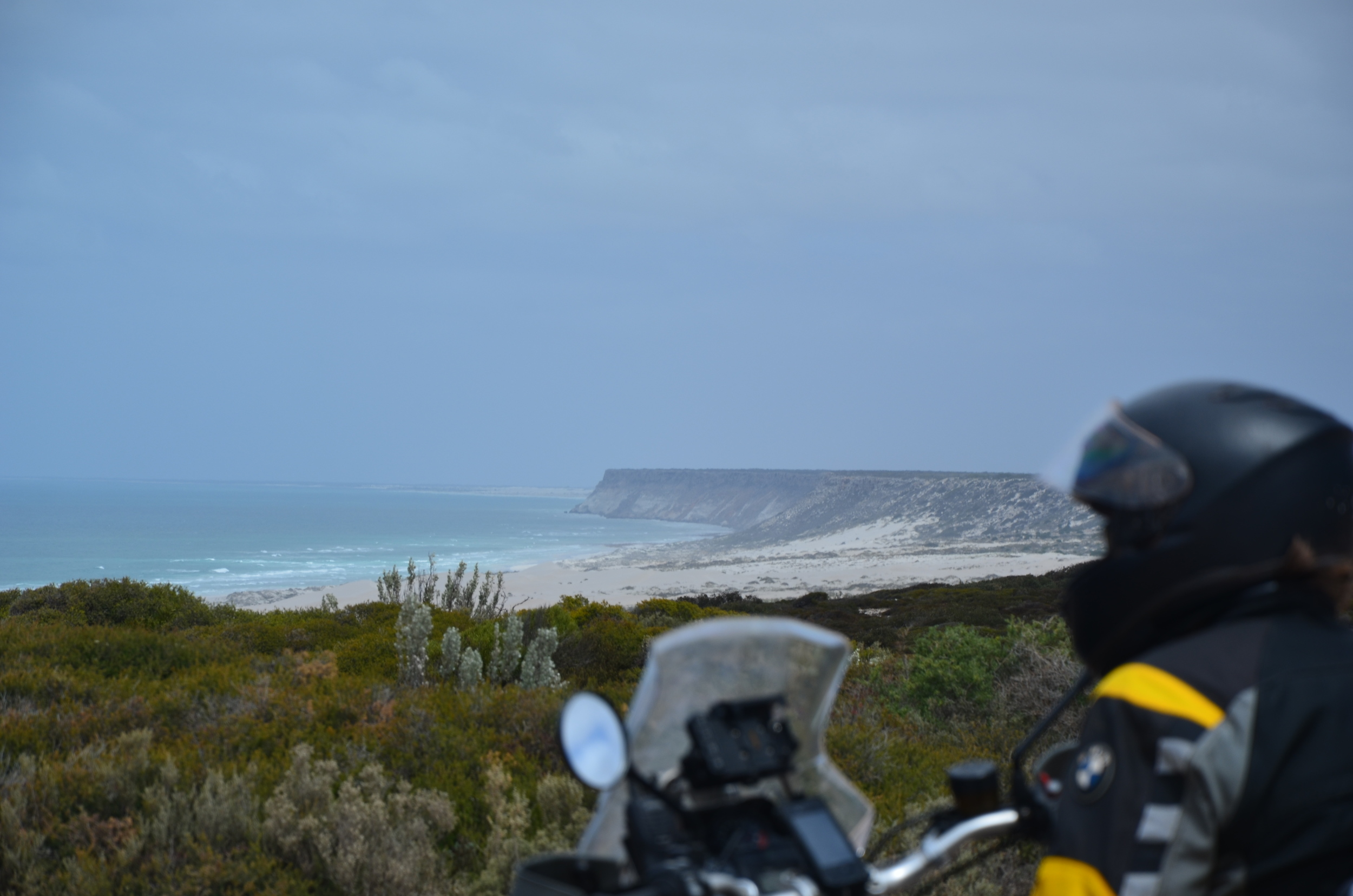 An awesome windy view of the Great Australian Bight.