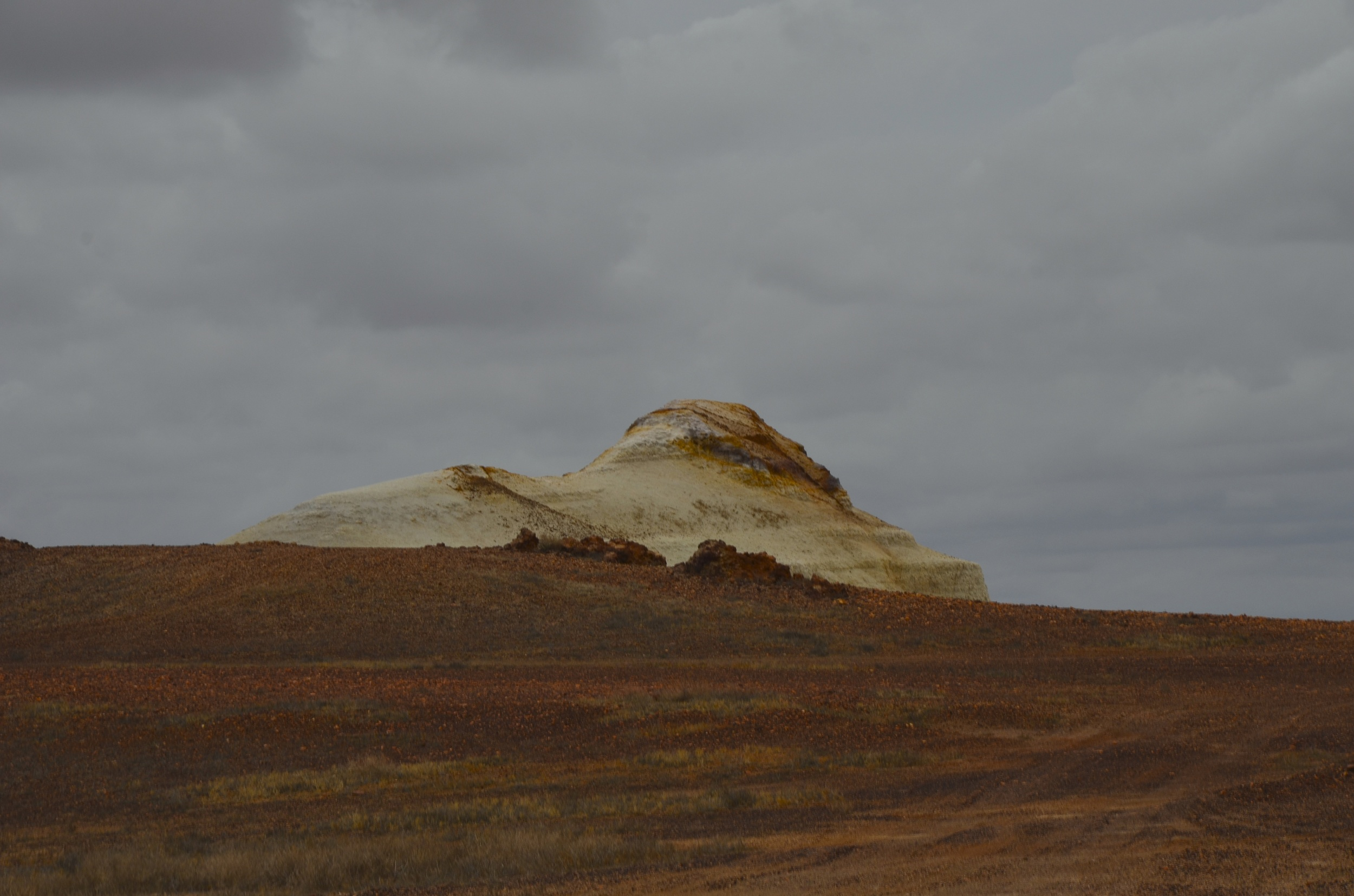 Coober Pedy's Sphinx!  Known as Papa to the Aboriginal People, one of the two sitting dogs.