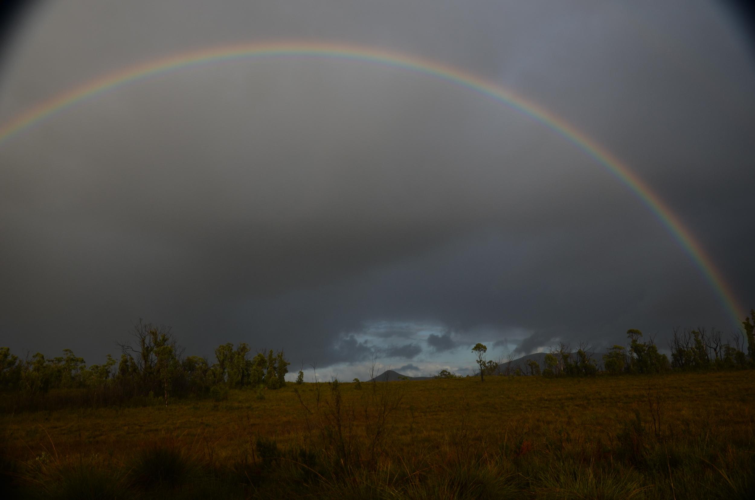 We saw many amazing rainbows  today!