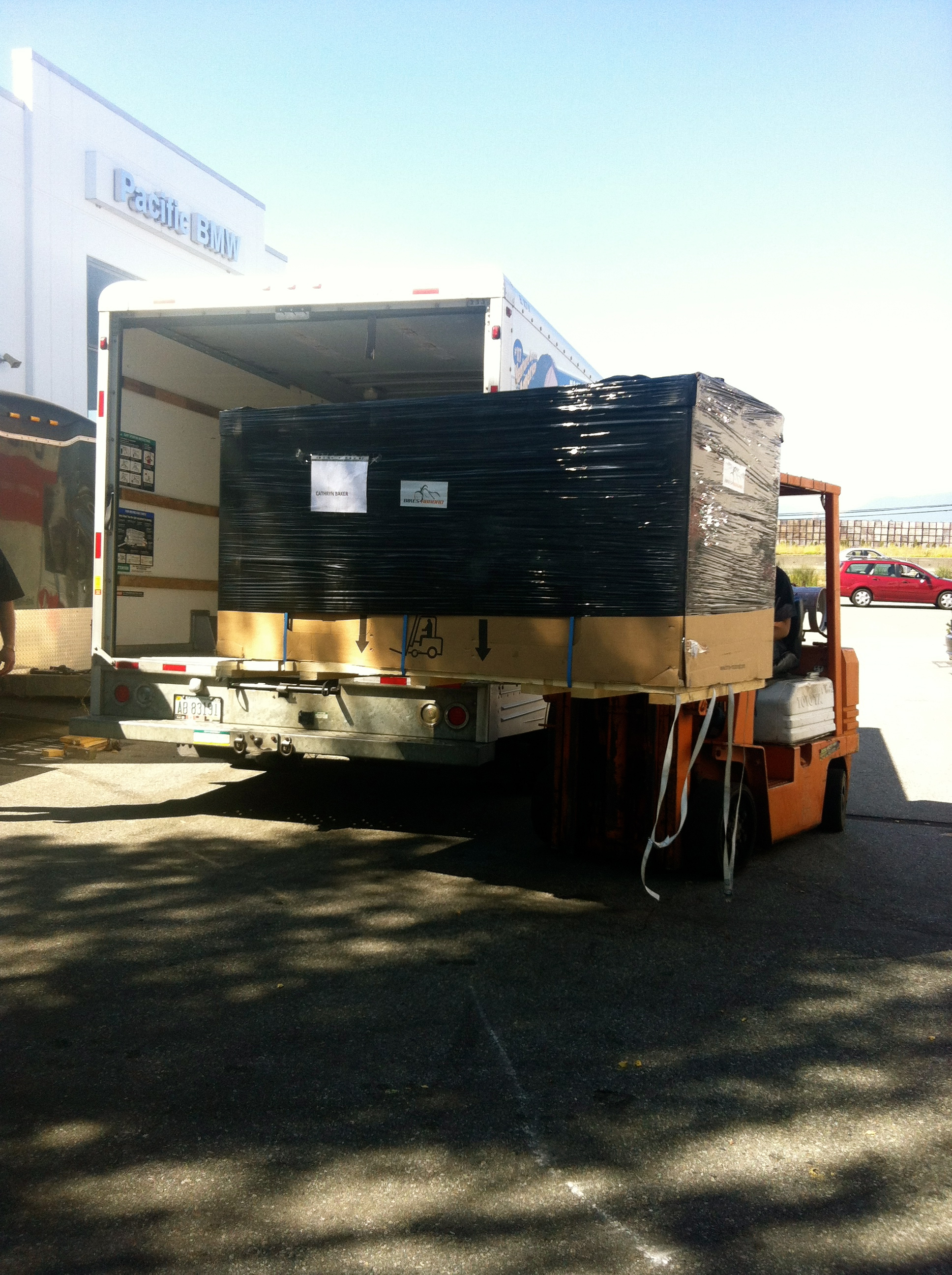 Unloading at Pacific BMV, Vancouver, Canada.