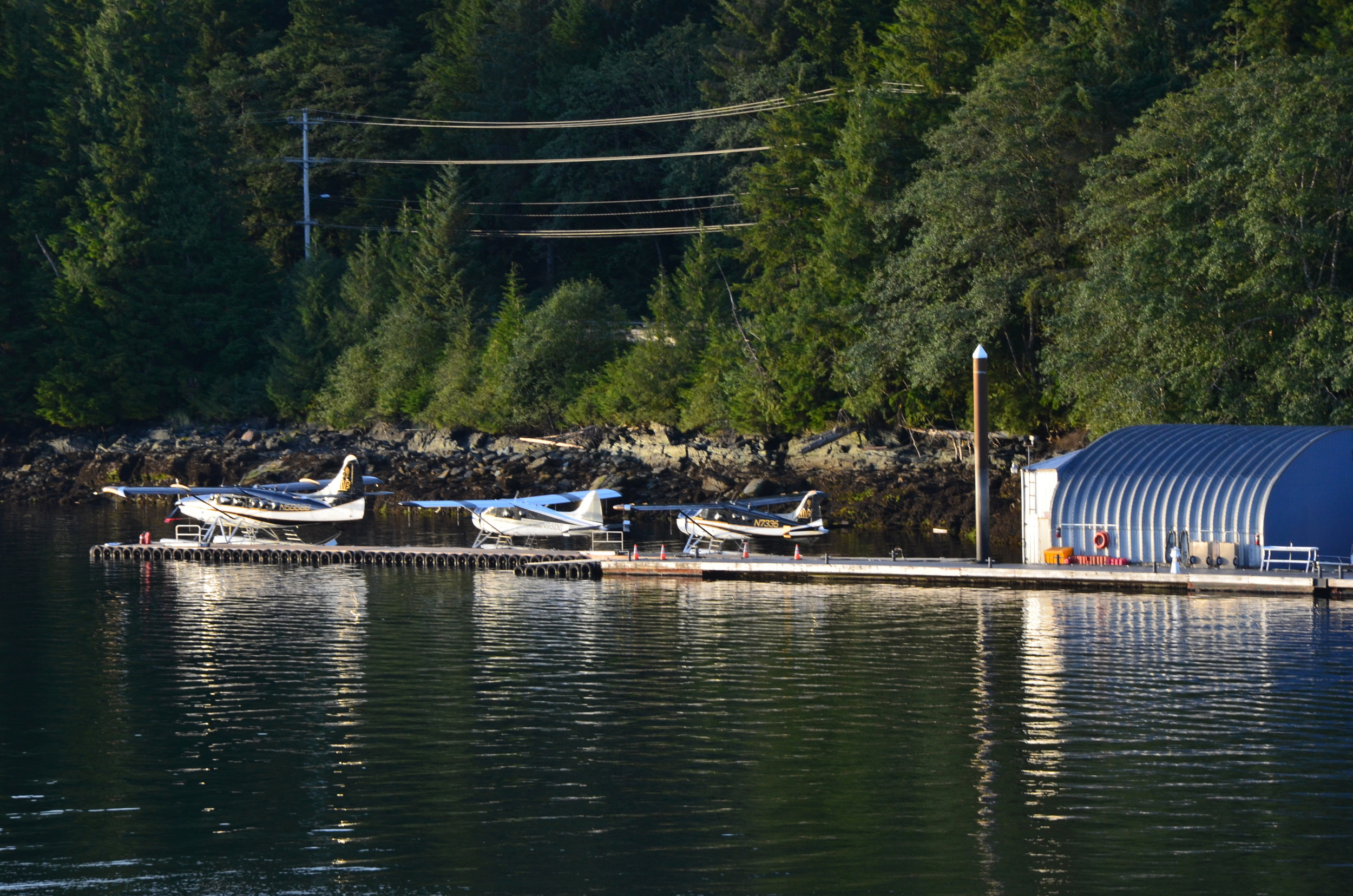 Float planes are common...Some towns are only accessible by boat or plane up here.