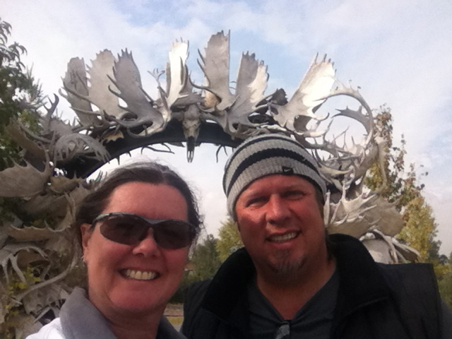 Antler Arch in Fairbanks