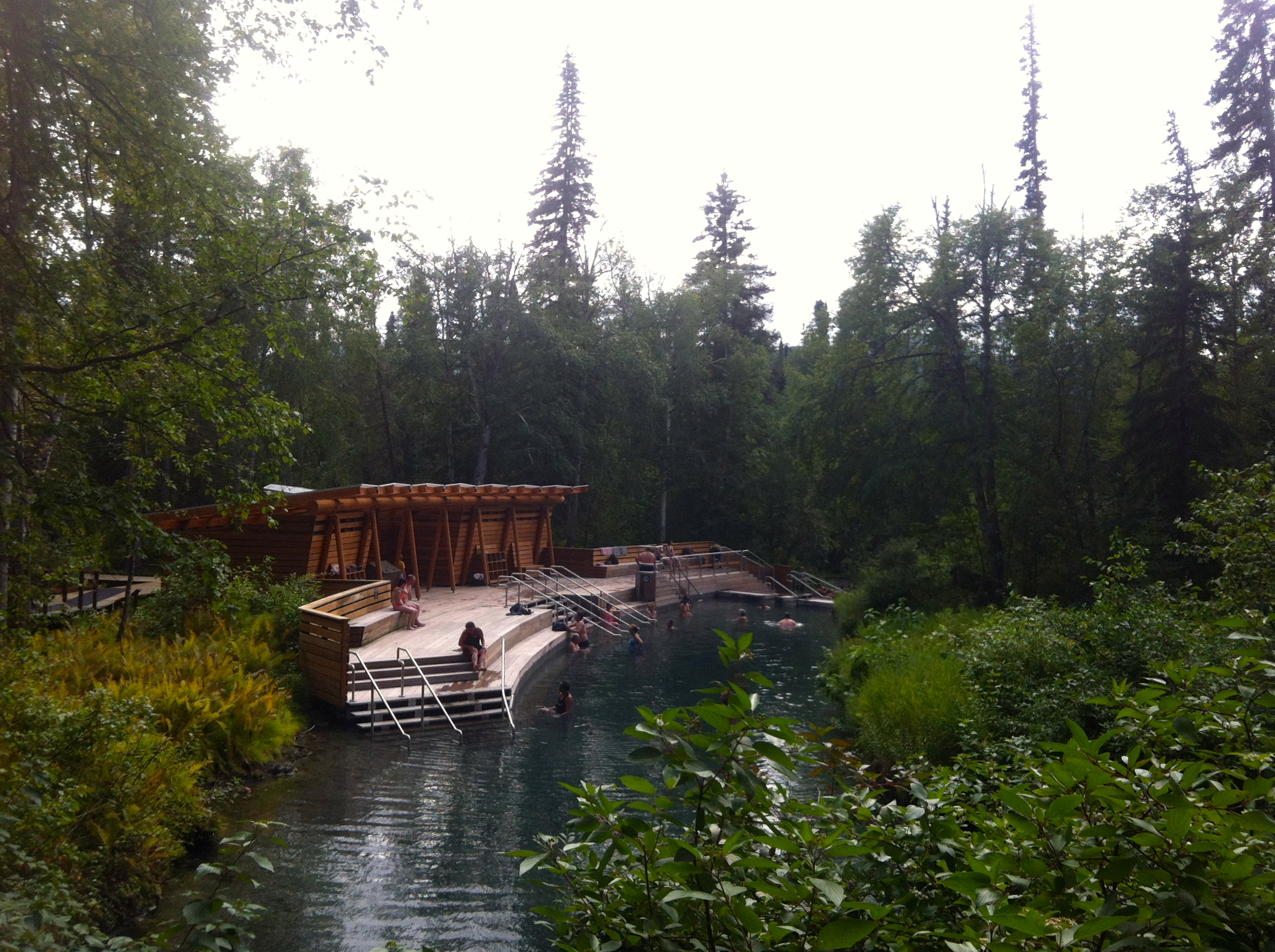 These hot springs were pretty fancy andfluctuatedin temperature from 1st degree burns down to tepid!