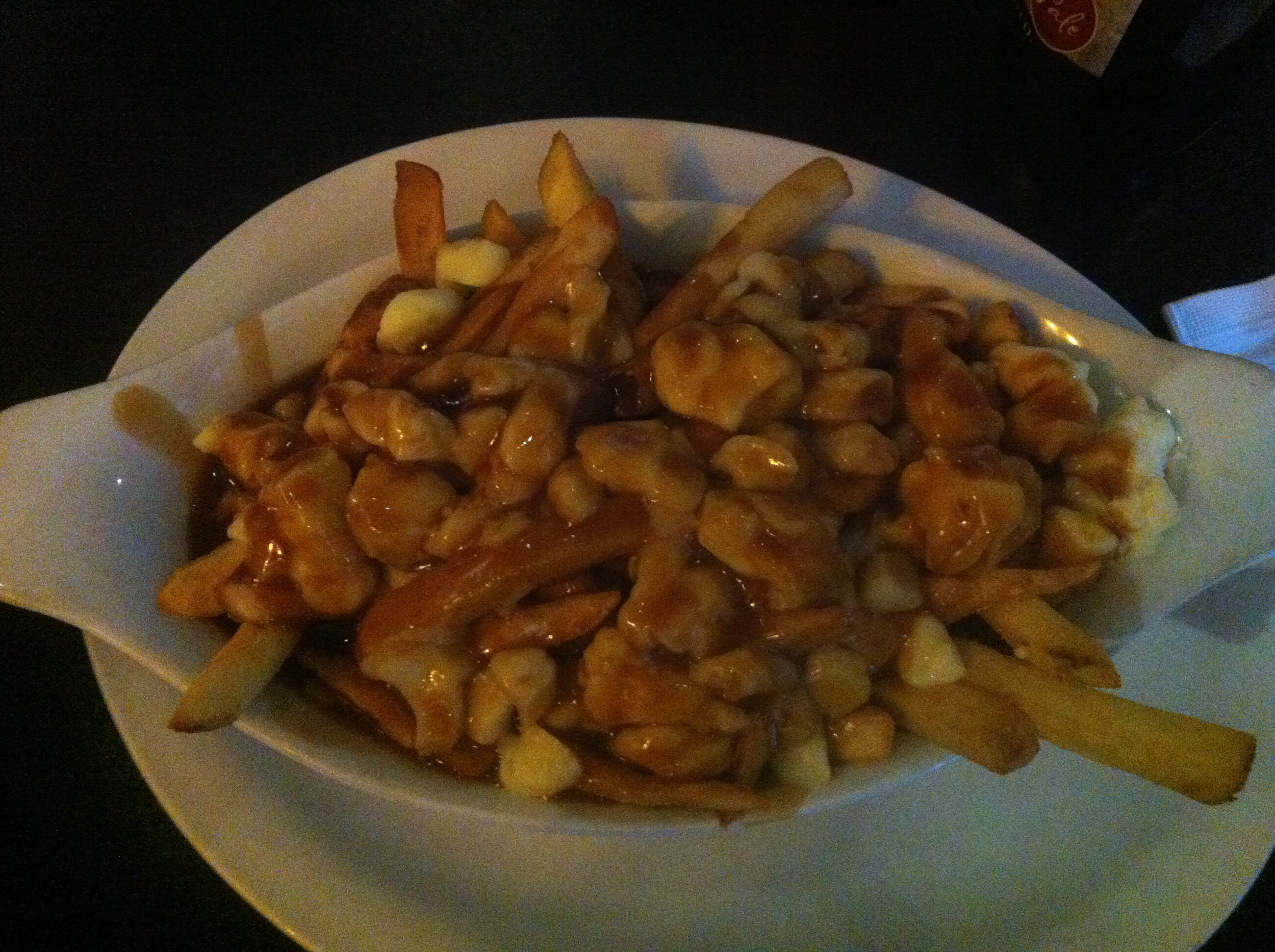 Poutine....french fries, gravy and cheese curds