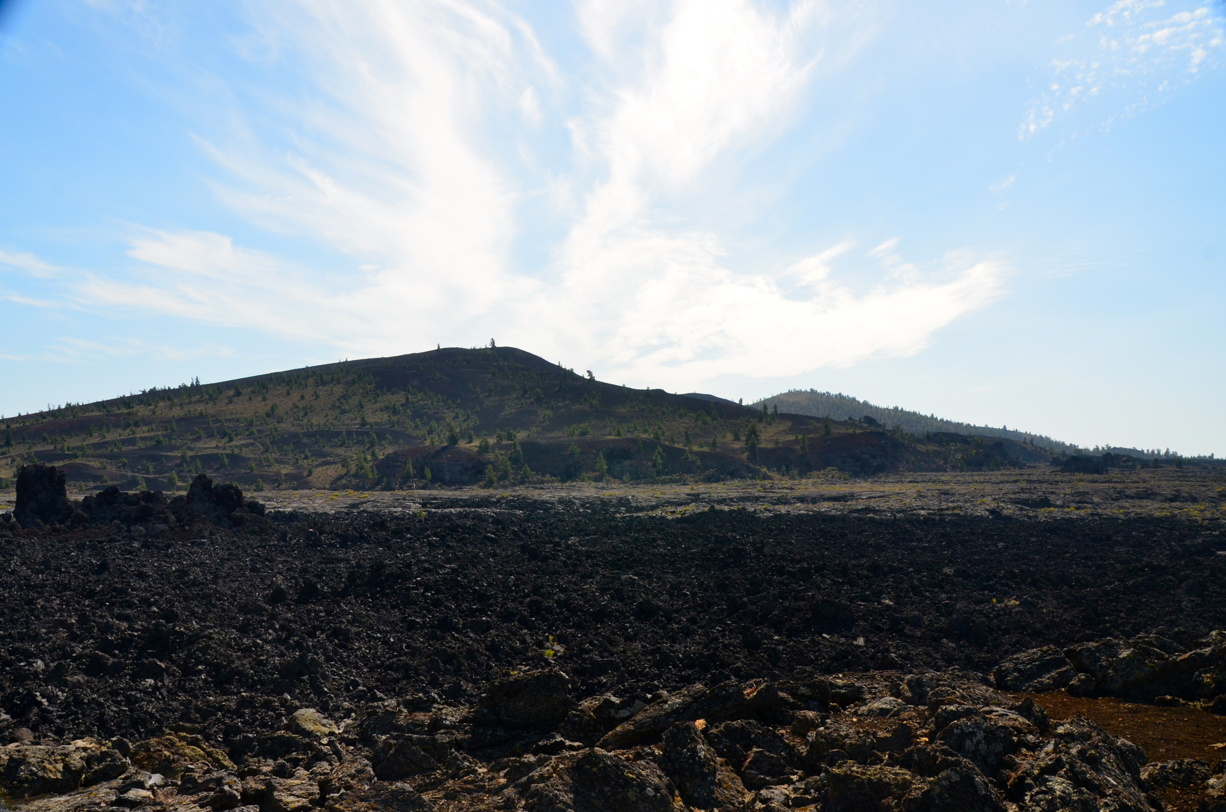 Looking out across the Lava  fields