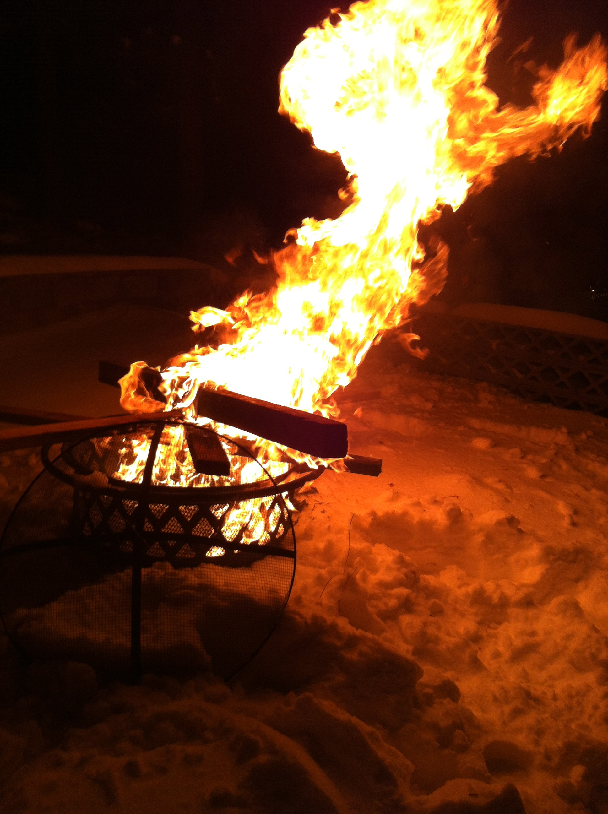 Fun with fire,buying off the rest of the wood!
