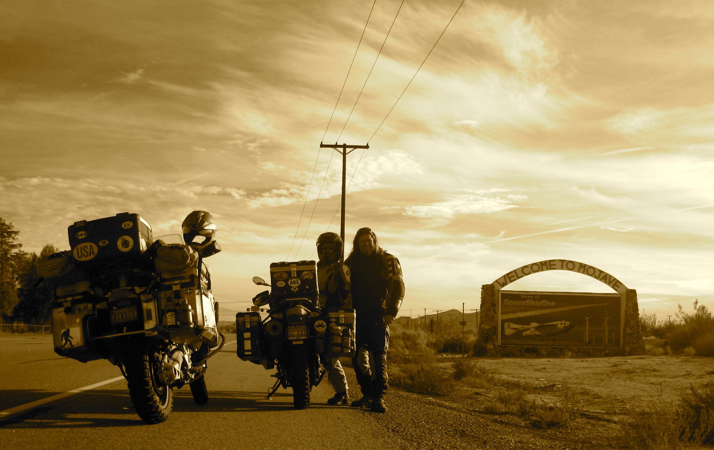 Arrival in Mojave, Ca