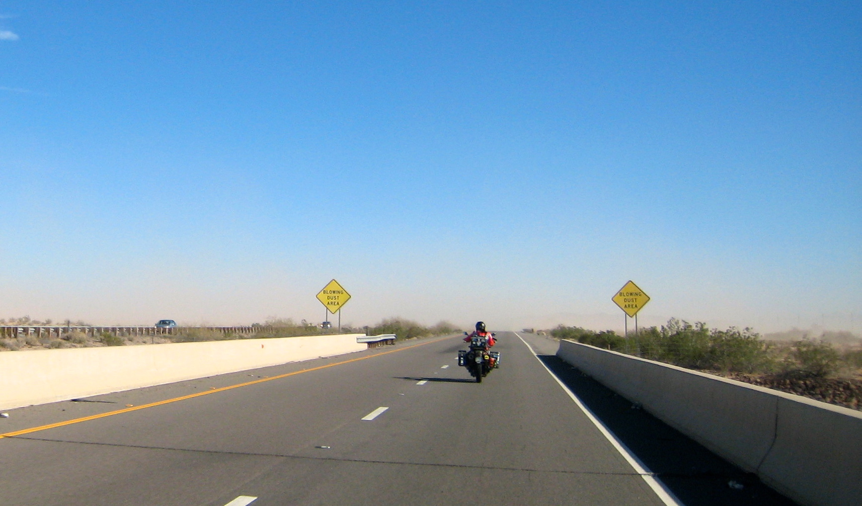 It was very windy, and dusty traveling into Tucson today!
