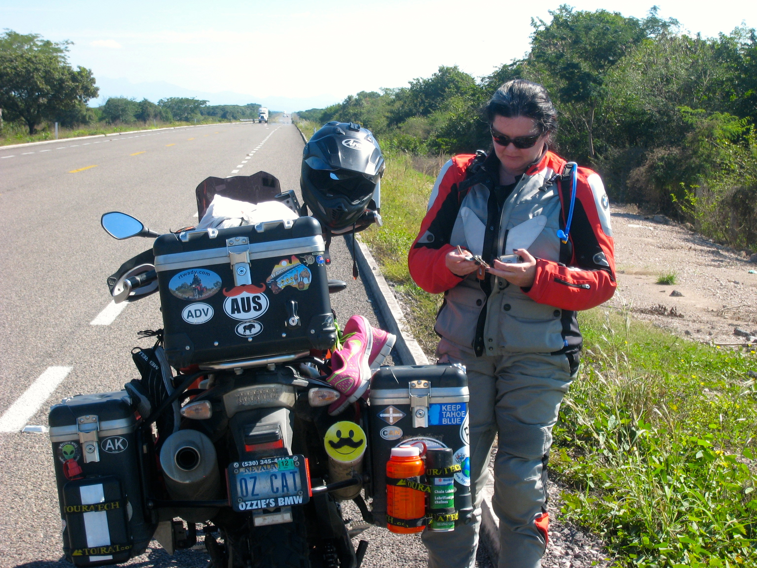 Pulling over to check to get the map out and check on the location of the San Blas exit