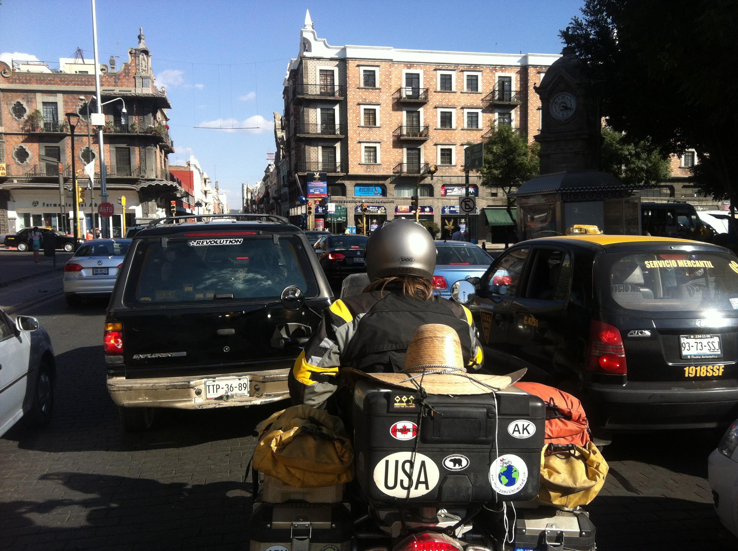 Riding into Puebla