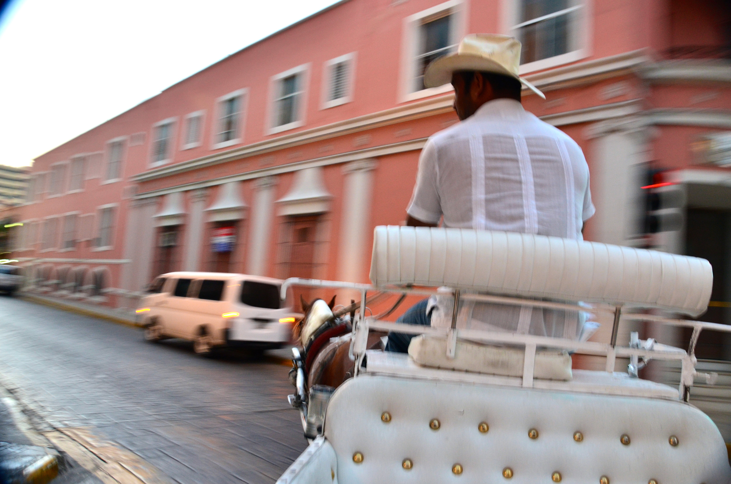 Our horse and carriage ride through the streets of Merida, was amazing!  We were a little hesitant because the last horse and carriage ride that Kev and I took went rogue, breaking out into a gallop, running over the curbs, through a light and crashing into a taxi!