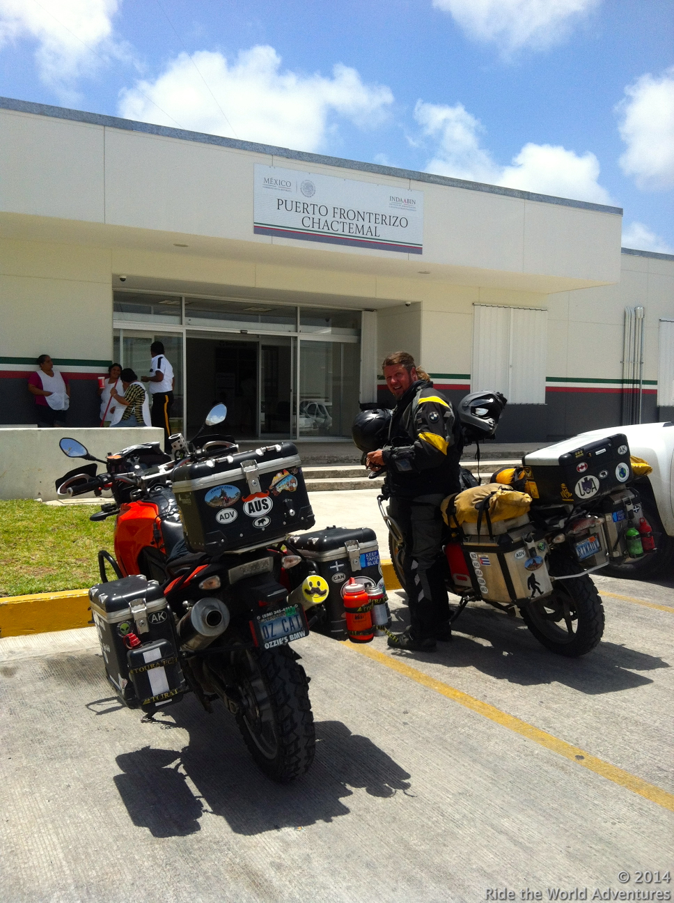 Getting bikes cleared and stamped out of Mexico, in order to receive our bond refund.