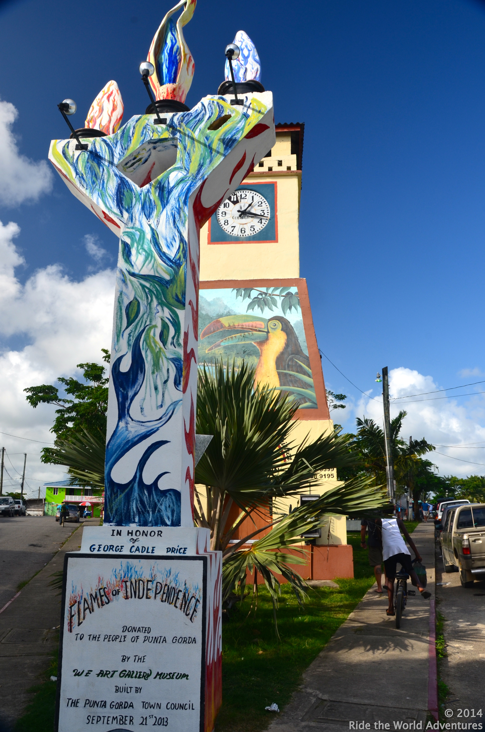 Main drag in Punta Gorda