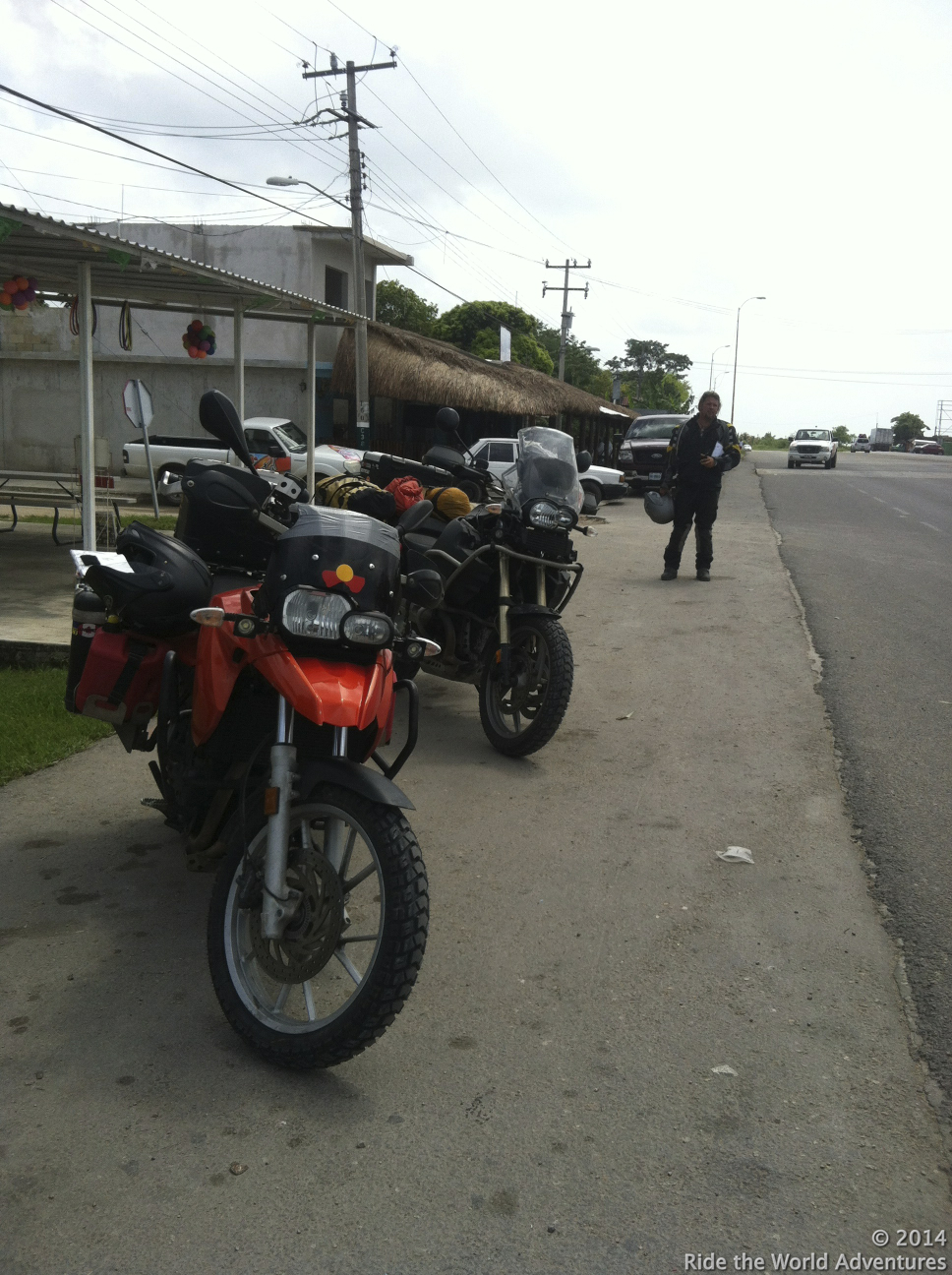 We decide to ride back into Bacalar to see if El Pejelagarto is open…we are in luck!