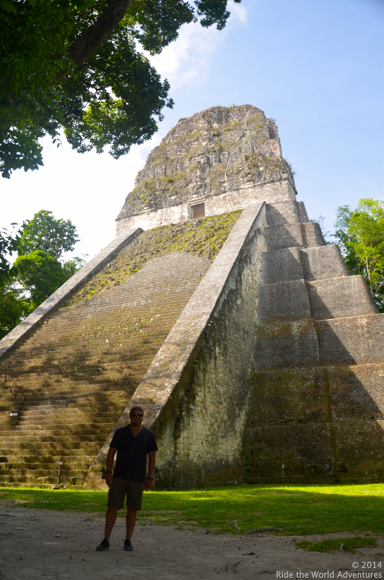 Here you can easily see the seven levels of the Temple (5), representing the 7 days of the week.  This temple was the first constructed at Tikal around 600 A.D