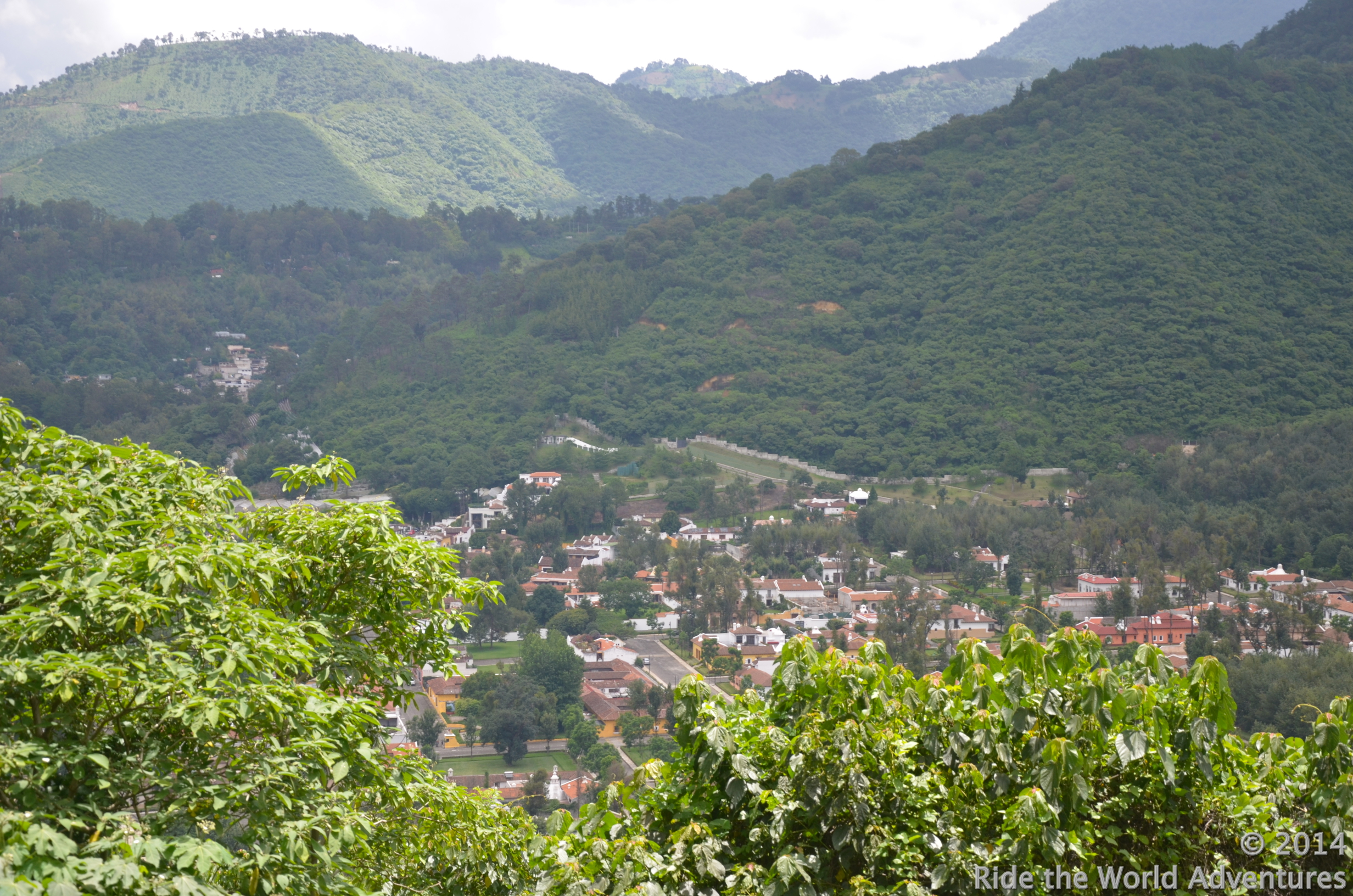One quick partial view into the valley of Antigua Guatemala.