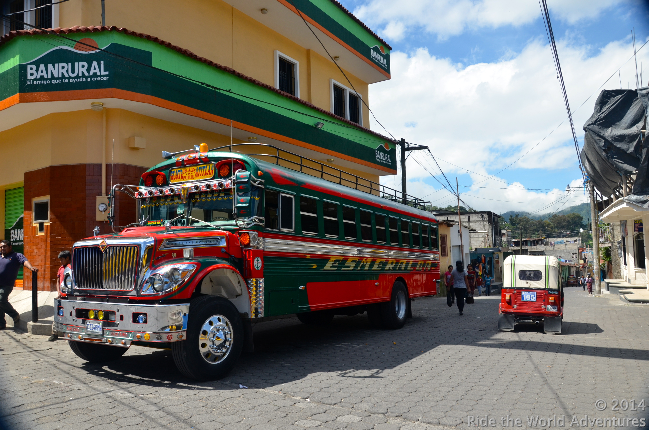 Cool colorful Bluebird busses…They are very very popular in the Central America's.