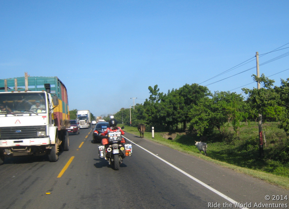 Heading towards Leon, Nicaragua