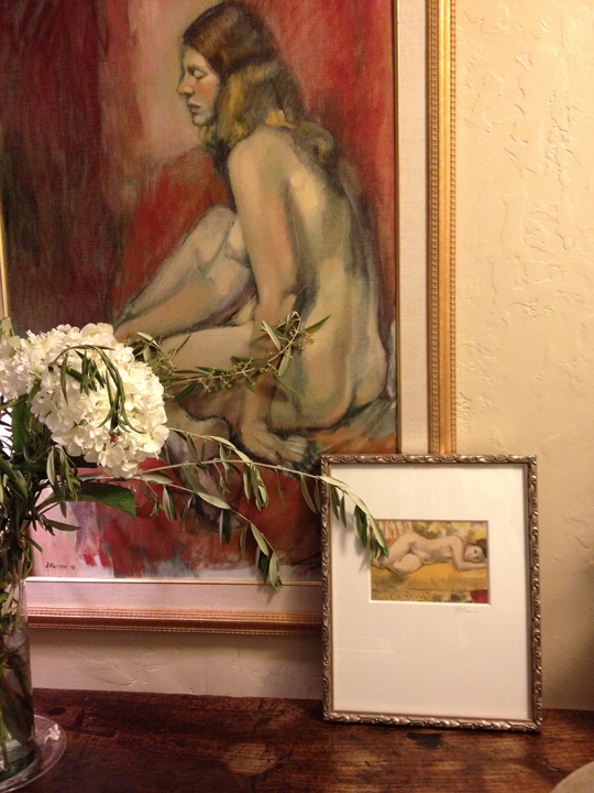 Part of 'The Lost Collection' Woman/side Profile w/Reds   Original Oil $3,400. 35x24