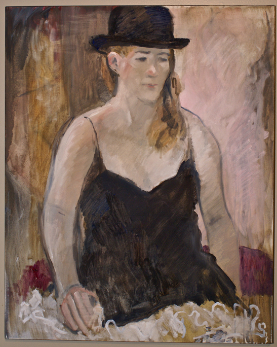 Woman with Derby Hat