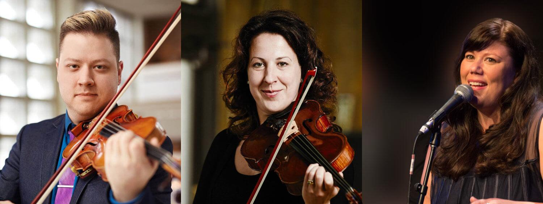 PERFORMERS: Tango Duets by Jeremy Buzash (violin) & Elise Lavallée (viola) • Jazz Vocals by Jodie Borlé