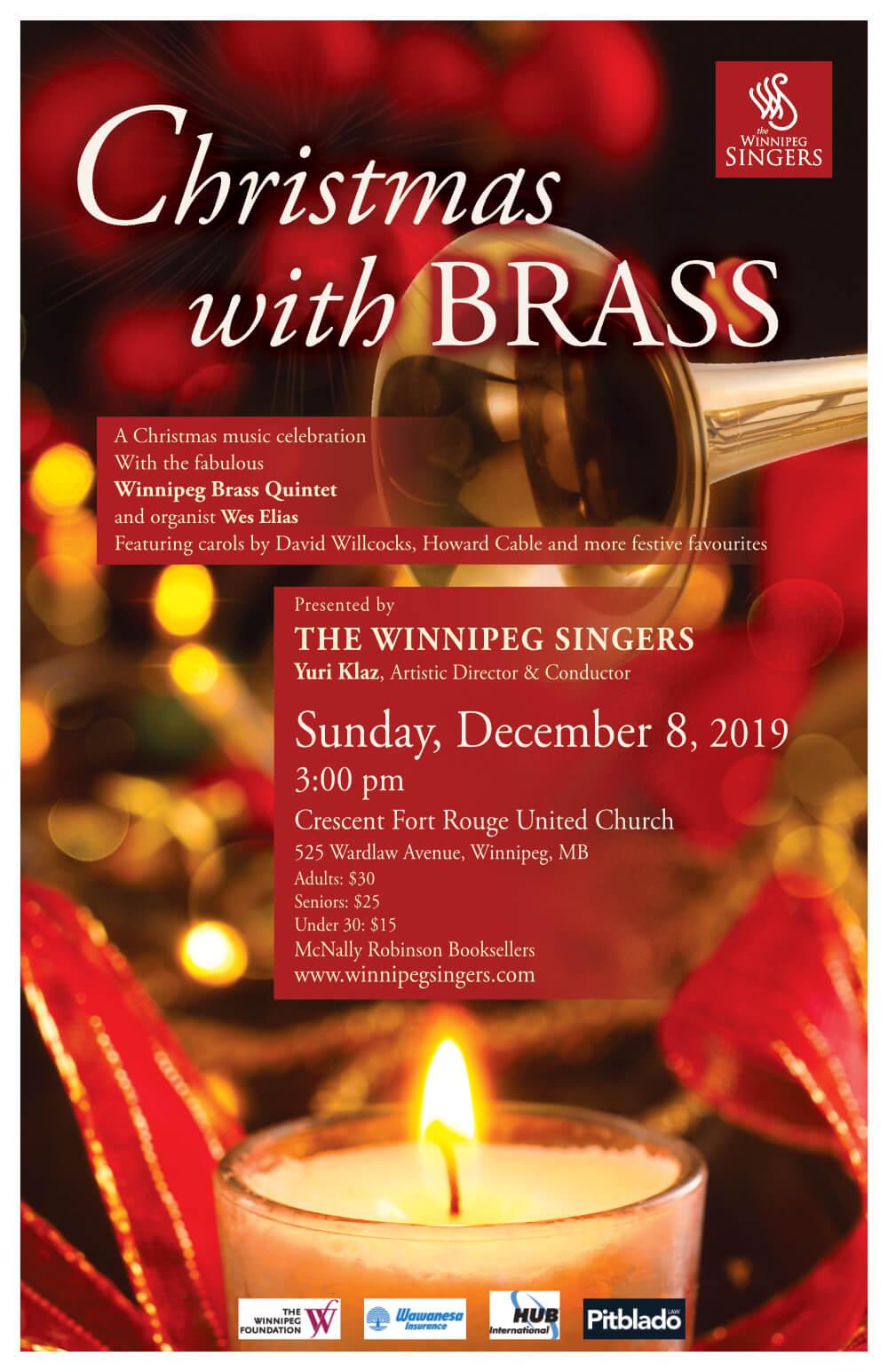 Winnipeg Singers Concert: Christmas with Brass, poster